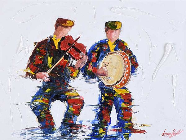 MAKING MUSIC by Darren Paul at Ross's Online Art Auctions