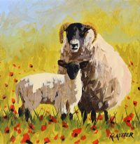 RAM, LAMB & POPPIES by Ronald Keefer at Ross's Auctions