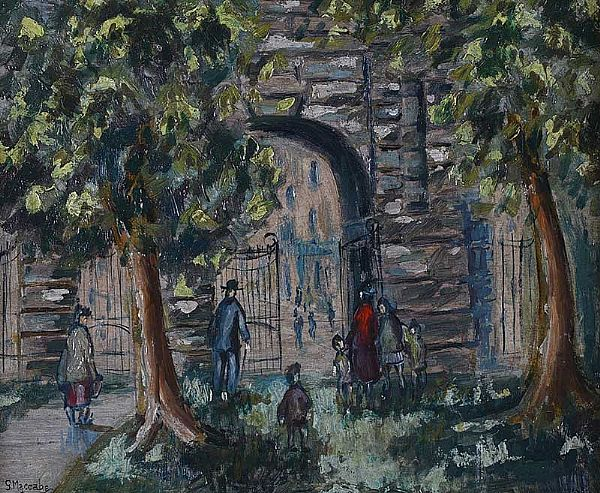 ST STEPHEN'S GREEN, DUBLIN by Gladys Maccabe HRUA at Ross's Online Art Auctions