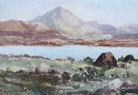 TURF STACKS, ERRIGAL, DONEGAL by Rowland Hill RUA at Ross's Auctions