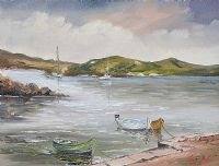 TRANQUIL COAST INLET by Darren Paul at Ross's Auctions