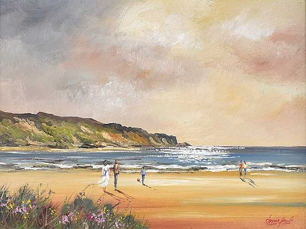 KILLAHOEY BEACH, DONEGAL by Darren Paul at Ross's Online Art Auctions