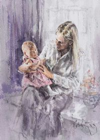 MOTHER & CHILD by Gordon King at Ross's Auctions