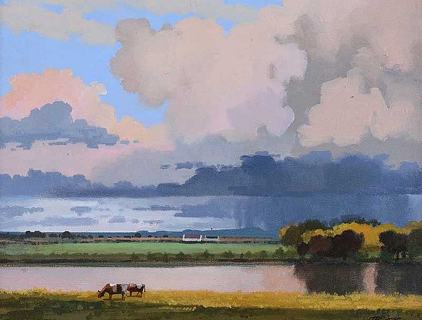 SKY FEST, BOYNE VALLEY by John F. Skelton at Ross's Online Art Auctions