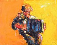 THE ACCORDION PLAYER by J.B. Vallely at Ross's Auctions