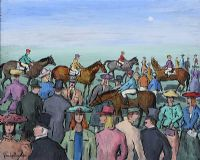 AT THE RACES by Gladys Maccabe HRUA at Ross's Auctions