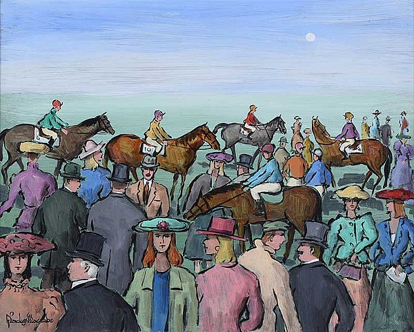 AT THE RACES by Gladys Maccabe HRUA at Ross's Online Art Auctions
