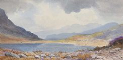 THE BLUE LAKE IN THE MOURNES by Joseph William  Carey RUA at Ross's Auctions