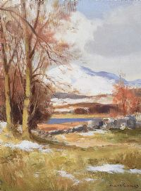 SNOW IN DONEGAL, MULROY BAY NEAR MILFORD by Maurice Canning  Wilks ARHA RUA at Ross's Auctions