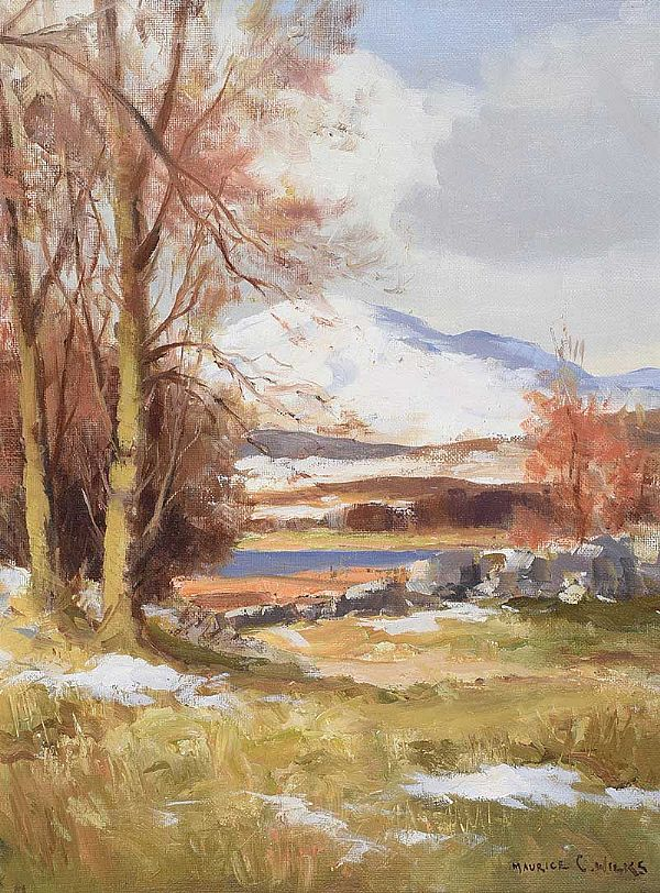SNOW IN DONEGAL, MULROY BAY NEAR MILFORD by Maurice Canning  Wilks ARHA RUA at Ross's Online Art Auctions