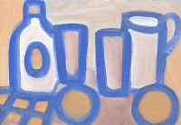 STILL LIFE, BOTTLES & A JUG by Markey Robinson at Ross's Auctions
