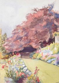 THE TERRACE BORDER by Lydia de Burgh RUA UWS at Ross's Auctions