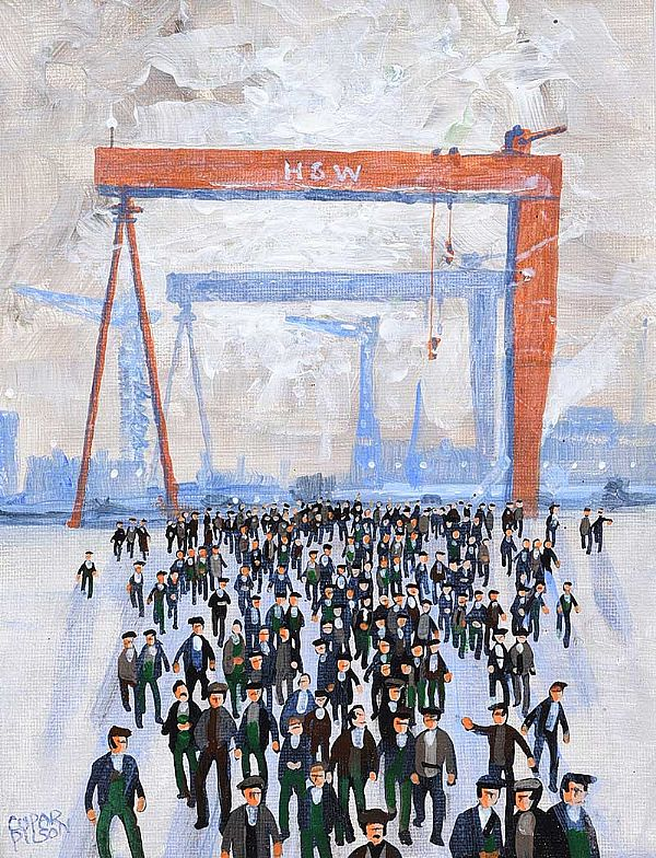 SHIPYARD MEN by Cupar Pilson at Ross's Online Art Auctions