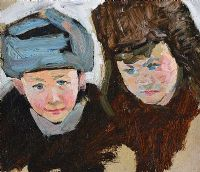 ARTIST'S TWO CHILDREN by Alexei Pavlovich Solodovnikov at Ross's Auctions