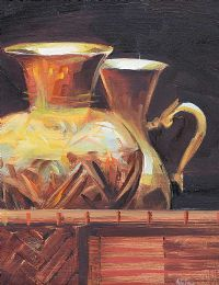 JUGS IN A BASKET by David Nolan at Ross's Auctions