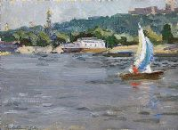 OUT SAILING by Russian School at Ross's Auctions