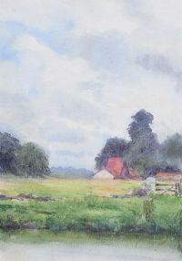 THE OLD BARN by Coralie de Burgh Kinahan at Ross's Auctions