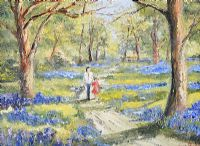 A WALK IN BLUEBELL WOOD by Darren Paul at Ross's Auctions