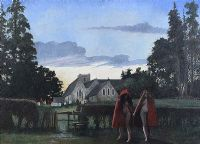 SELBORNE CHURCH YARD by James Horton RCA at Ross's Auctions