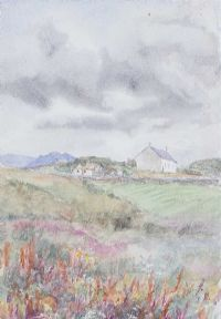COTTAGE IN THE LANDSCAPE by Coralie de Burgh Kinahan at Ross's Auctions