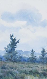 THREE TREES IN A LANDSCAPE by Coralie de Burgh Kinahan at Ross's Auctions