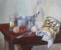 TABLE TOP STILL LIFE by Daniel Dowling at Ross's Auctions