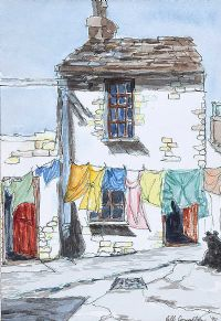 A WASHING HOUSE by Jill Coughlan at Ross's Auctions