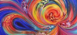 COLOURED SWIRL by Spanish School at Ross's Auctions