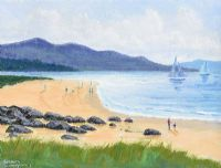 FAHAN BEACH TOWARDS INCH by Sean Loughrey at Ross's Auctions