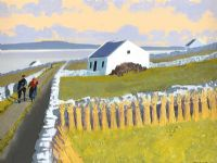 THE ROAD HOME, INISHMAAN, ARAN ISLANDS by John F. Skelton at Ross's Auctions