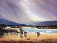 FISHING BOATS, WEST OF IRELAND by Norman J.  McCaig at Ross's Auctions