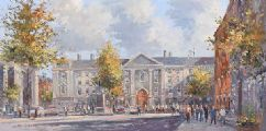 TRINITY COLLEGE DUBLIN, FROM DAME STREET by Colin Gibson at Ross's Auctions