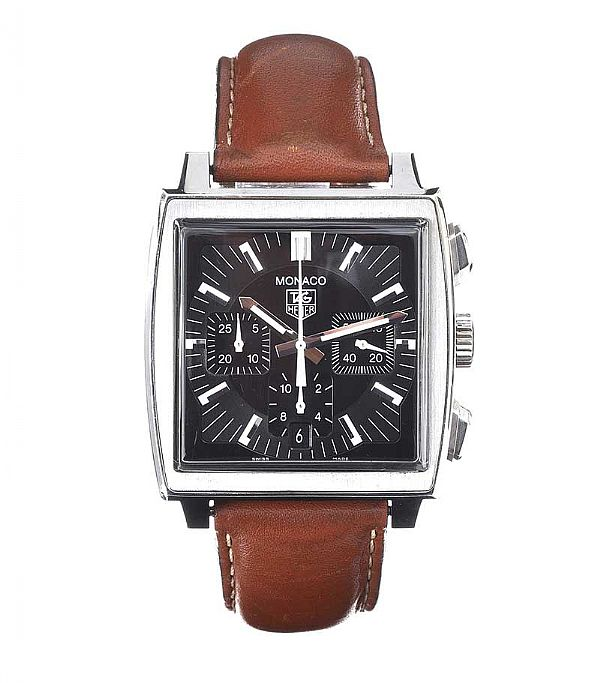 TAG HEUER 'MONACO' CHONOGRAPH STAINLESS STEEL GENT'S WRIST WATCH at Ross's Online Art Auctions
