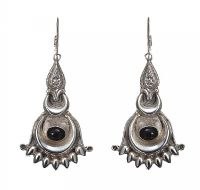 STERLING SILVER GARNET DROP EARRINGS at Ross's Jewellery Auctions