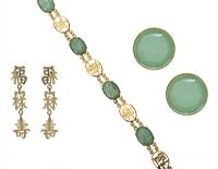 SUITE OF JADE AND CHINESE JEWELLERY at Ross's Jewellery Auctions