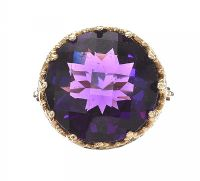 9CT GOLD AMETHYST RING at Ross's Jewellery Auctions