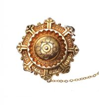 VICTORIAN 14CT GOLD BROOCH at Ross's Online Art Auctions