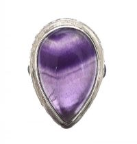 STERLING SILVER RING SET WITH AMETHYST at Ross's Jewellery Auctions