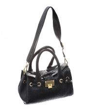 JIMMY CHOO BLACK LEATHER HANDBAG at Ross's Jewellery Auctions