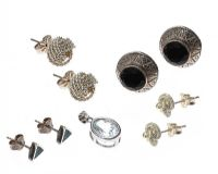 SELECTION OF SILVER EARRINGS AND A PENDANT at Ross's Auctions