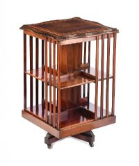 EDWARDIAN REVOLVING BOOKCASE at Ross's Auctions