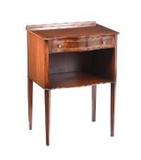 EDWARDIAN INLAID MAHOGANY BEDSIDE PEDESTAL at Ross's Auctions