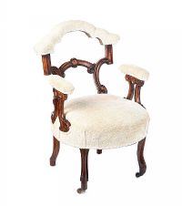 VICTORIAN MAHOGANY LOW CHAIR at Ross's Auctions