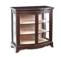 SERPENTINE FRONT DISPLAY CABINET at Ross's Auctions