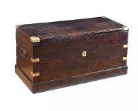 GEORGIAN MAHOGANY MILITARY TRUNK at Ross's Auctions