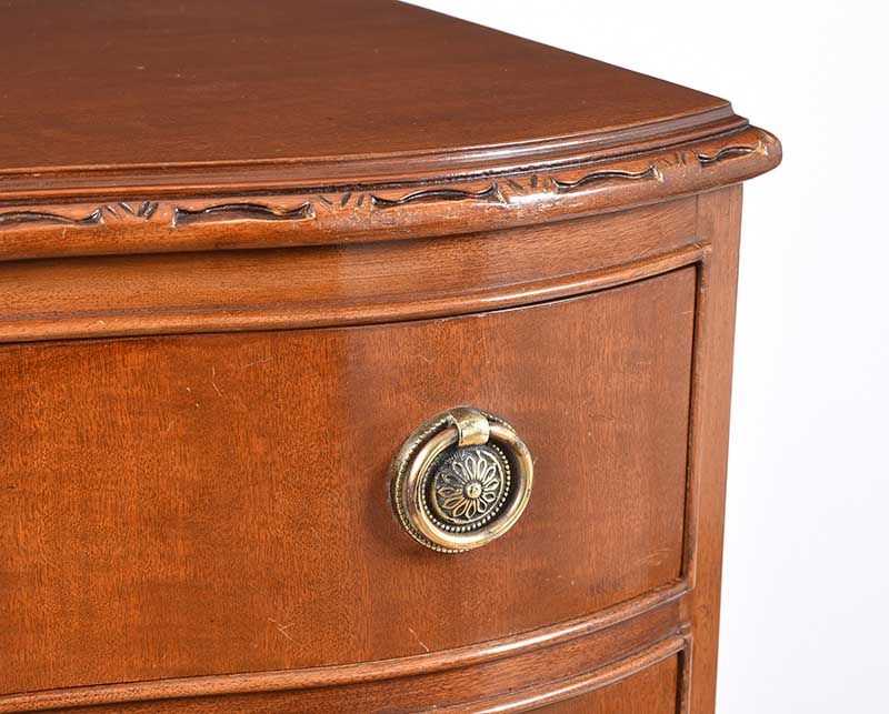 MAHOGANY BEDSIDE PEDESTAL at Ross's Online Art Auctions
