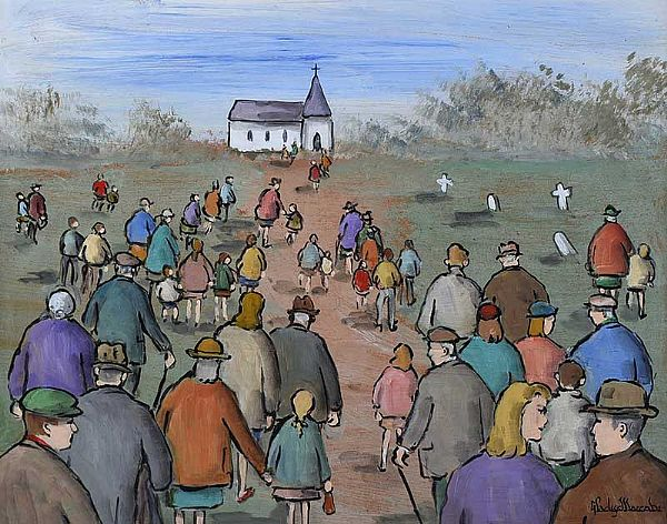GOING TO CHURCH by Gladys Maccabe HRUA at Ross's Online Art Auctions