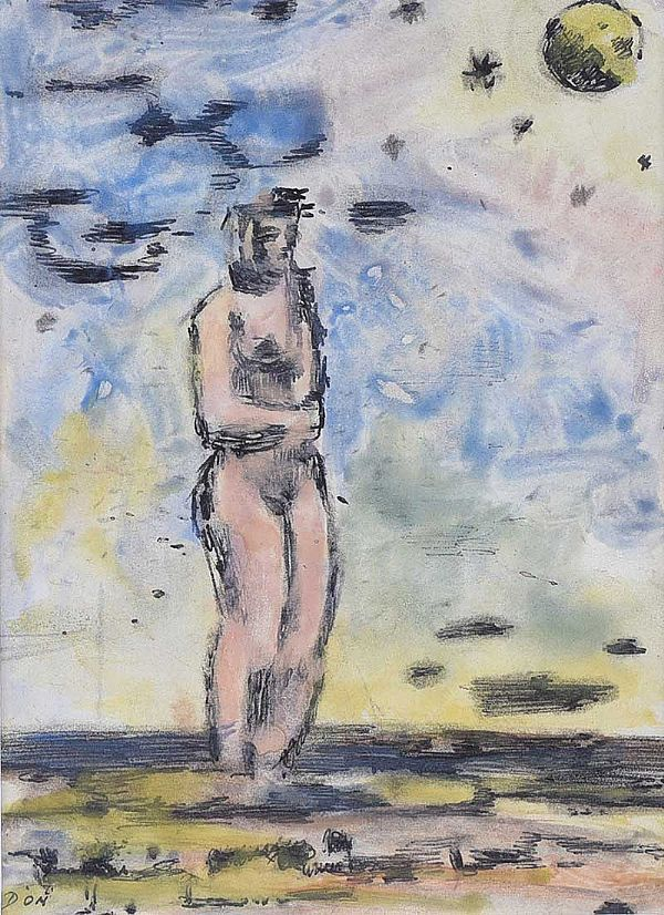 STANDING NUDE by Daniel O'Neill at Ross's Online Art Auctions