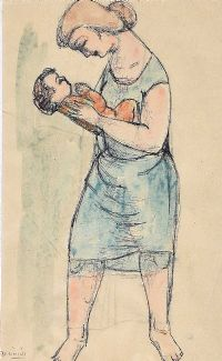 MOTHER & CHILD by Daniel O'Neill at Ross's Auctions