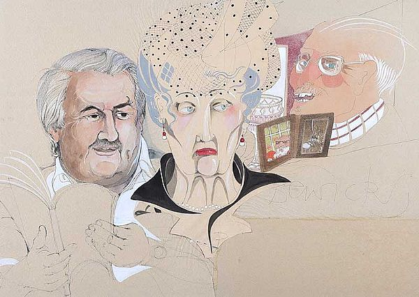 OLD PEOPLE, 1970 by Pauline Bewick RHA at Ross's Online Art Auctions